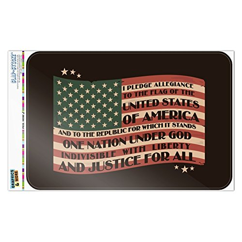 Graphics and More USA Vintage Flag Pledge of Allegiance Home
