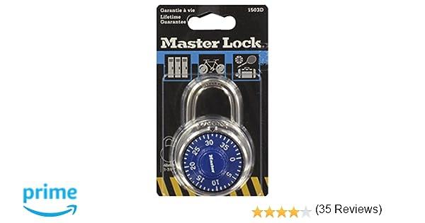 Master Lock 1503EURD Candado de Combinación de Acero Inoxidable, Multicolor