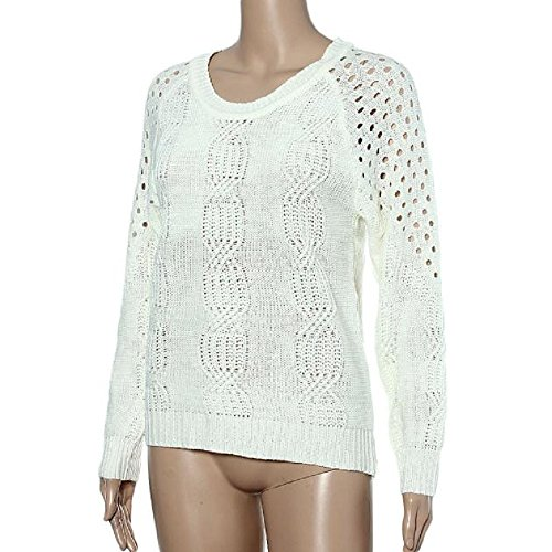 Sannysis Frauen lösen Strickpullover Strickwaren Backless Outwear