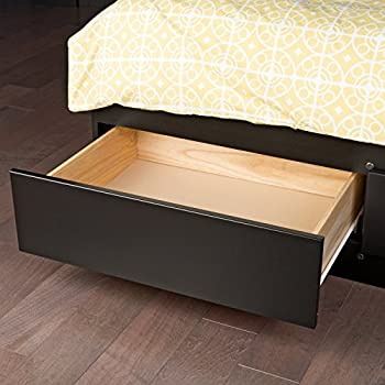 Black Queen Mate's Platform Storage Bed with 6 Drawers