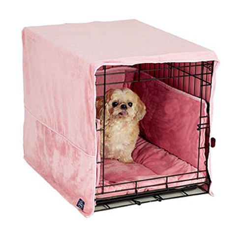 Pet Dreams New Double Door 3 Piece Crate Bedding Set. The Original Crate Cover, Crate PAD and Bumper...