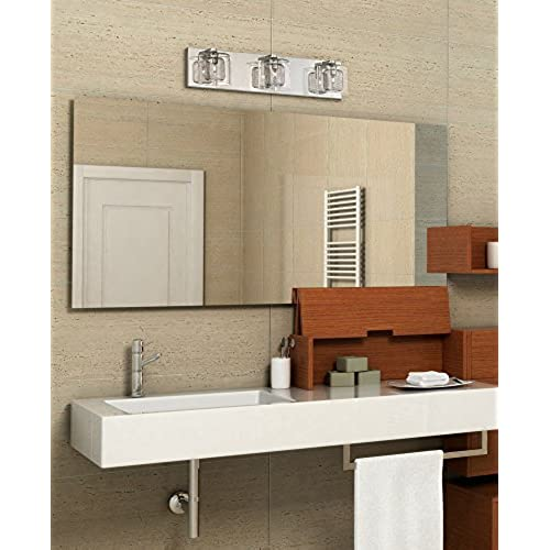 Pleasing Possini Euro Design Zatara 20 1 2 Wide Chrome Bath Light Home Interior And Landscaping Staixmapetitesourisinfo
