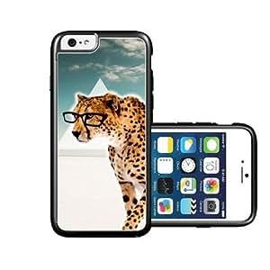RCGrafix Brand Hipster Cheetah Geek Glass iPhone 6 Case - Fits NEW Apple iPhone 6