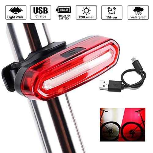 LED Fahrradrücklicht Fahrradbeleuchtung, Icesnail USB Wiederaufladbare LED-Lampe?Ultra Hell IPX6 Wasserdicht Fahrradrückleuchte , 6 Lichtmodi Rücklichter für Fahrrad