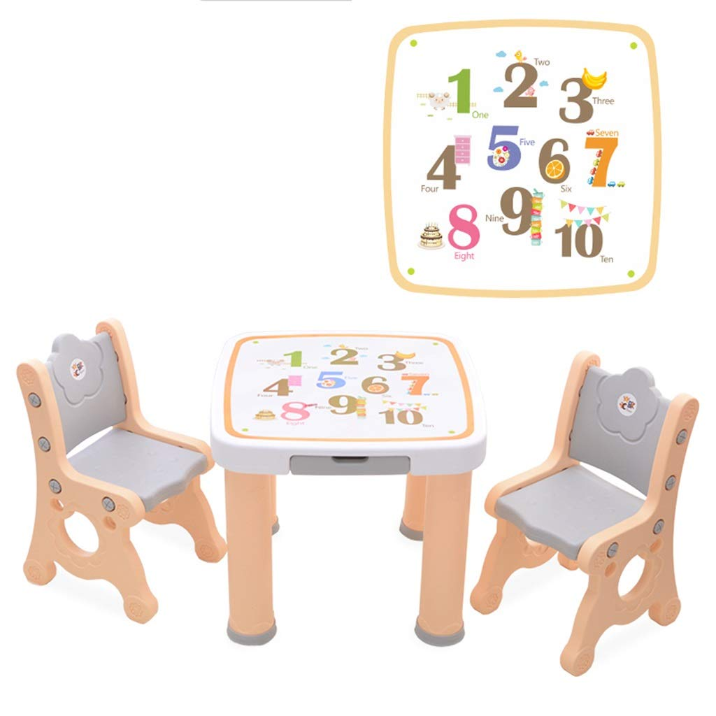 新しい季節 子供用学習テーブル子供用テーブルとチェアセット室内玩具ゲームデスクプラスチック学習テーブル (Color : Champagne) (Color Champagne : B07PT9VDZ9 B07PT9VDZ9, 【一部予約!】:92e9513b --- arianechie.dominiotemporario.com