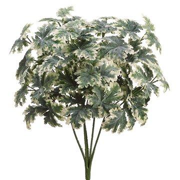 "18"" Silk Glittered Artemisia Plant -Green Variegated (case of 12)"