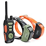 Ipets Pet618 880 Yards E-collar Rechargeable and Waterproof Training Shock Electric Collar with Remote and Vibrating for Small or Large Dogs Safe Electronic Trainer (for 2 dogs)