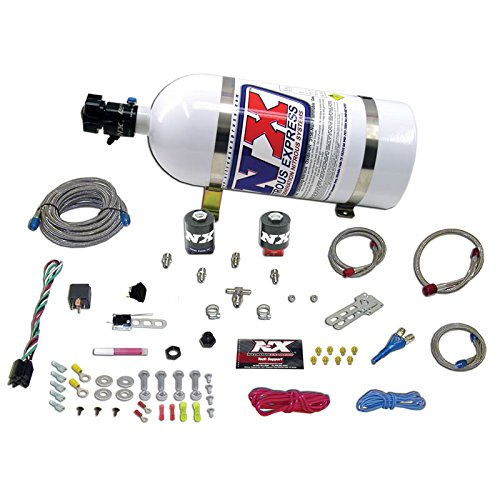 Single Nozzle System (Nitrous Express 20915E85-10 E85 35-150 HP Universal Single Nozzle System for EFI with 10 lbs. Bottle)