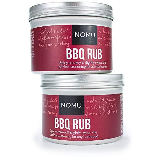 NOMU BBQ Seasoning Rub (3.90 oz | 2-pack) | MSG & Gluten Free, Non-GMO, Non-Irradiated