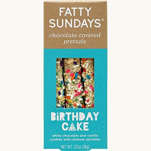 Fatty Sundays Chocolate Covered Pretzels, 1.27oz (Birthday - Gourmet Rods Pretzel