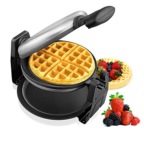 Aicok Belgian Waffle Maker, Waffle Iron, Stainless Steel 180 Degree Fast &...