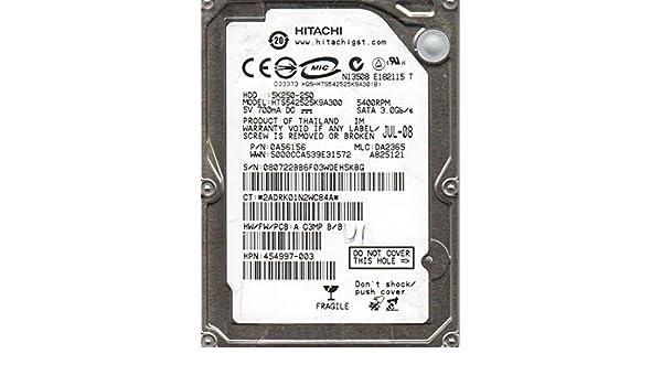 Hitachi HTS542525K9A300 P//N DA2365 250GB 0A56156 MLC