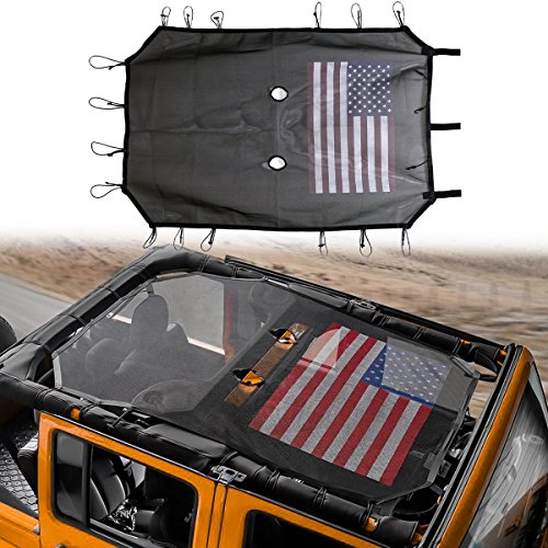 Sunshade Mesh Shade Top Cover with USA Flag Provides UV Prot