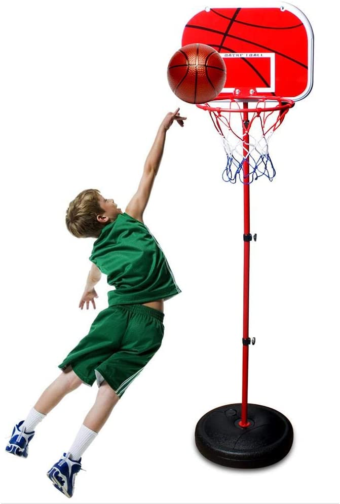 learnarmy Portable Basketball Hoop Stand with Adjustable Height Basketball Hoop with Stand for Indoors Outdoors Children Toy