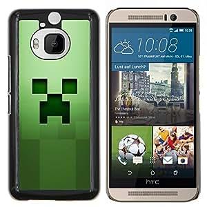 Caucho caso de Shell duro de la cubierta de accesorios de protección BY RAYDREAMMM - HTC One M9Plus M9+ M9 Plus - Cara espeluznante verde