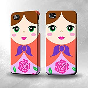 Apple iPhone 4 / 4S Case - The Best 3D Full Wrap iPhone Case - Russian Matryoshka Doll
