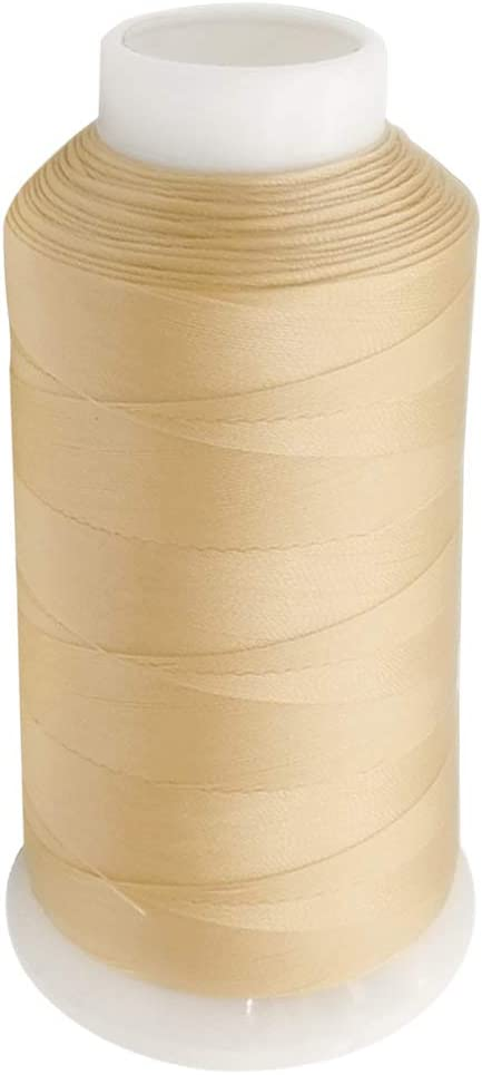 Desirable Life Bonded Nylon N66 Sewing Thread 1500 Yards Size #69 T70 210D/3 for Leather Denim Hand Machine Craft Shoe Bag Repairing Extra Strong Heavy Duty UV Rays Resistant Waterproof (Khaki)