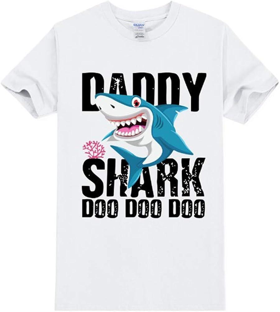 Mens Daddy Shark T Shirt Mama Baby Shark Doo Doo Matching Family Shirts Casual Outfit