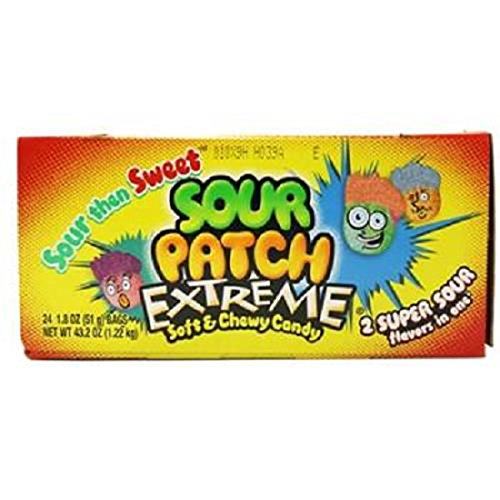 Product Of Sour Patch, Extreme Sour, Count 24 (1.8 oz) - Sugar Candy / Grab Varieties & Flavors