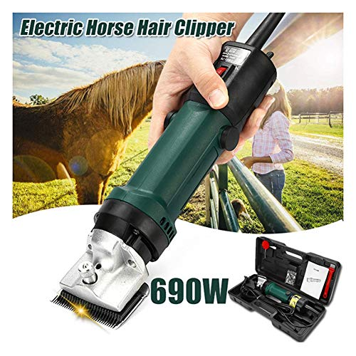 MSQL Electric Horse Hair Clippers 690W Heavy Duty Goat Shears, 6-Speed Adjustable, for Dogs Horses Equine Pigs Cattle Farm Livestock