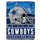 """NFL Dallas Cowboys Stacked Silk Touch Throw, 60"""" x 80"""""""