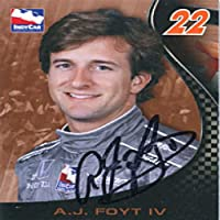 AJ Foyt Autographed/Signed 2007 Indy Car Card from Hollywood Collectibles