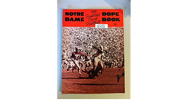 1956 Notre Dame Football Dope Book (48 pages - features