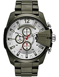 Men's Mega Chief Quartz Stainless Steel Chronograph Watch, Color: Green (Model: DZ4478)
