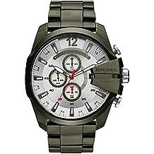 Diesel Men's Mega Chief Quartz Stainless Steel Chronograph Watch, Color: Green (Model: DZ4478)