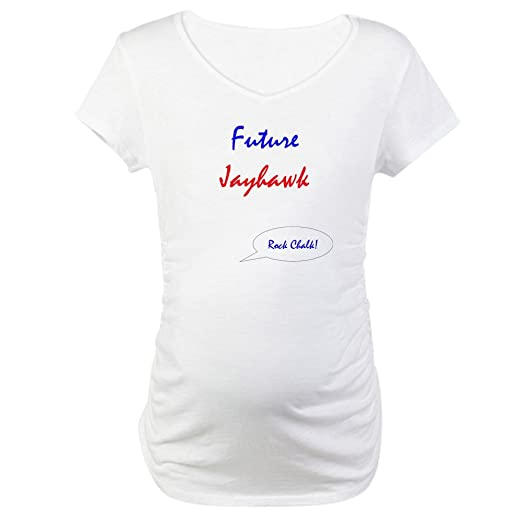 657a6fff21941 CafePress Future Jayhawk Maternity T-Shirt Cotton Maternity T-Shirt, Cute &  Funny