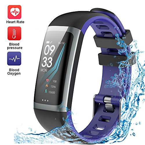 WELTEAYO Fitness Tracker, Activity Tracker Watch with Heart Rate Monitor, Color Screen Smart Bracelet with Sleep Monitor, IP67 Waterproof Smart Bracelet for Android and iOS