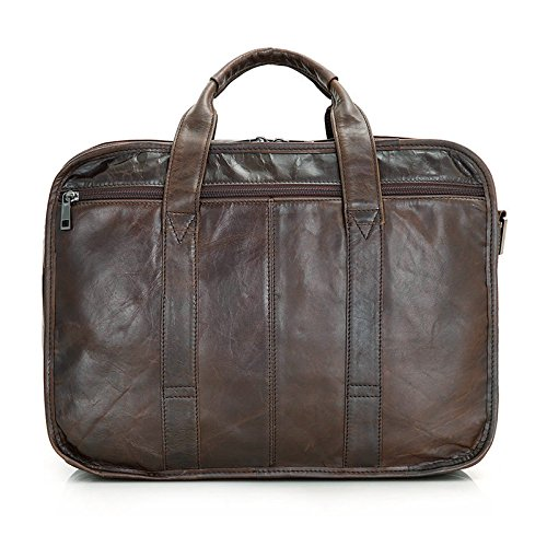 MUMUWU Men's Briefcase Leather Tote Bag Crossbody Bag Business Bag Leather Men's Bag Men's Briefcase Backpack (Color : Brown, Size : L) by MUMUWU (Image #2)