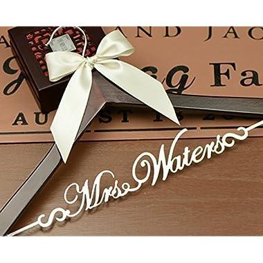 Personalized Hanger, Wedding Dress Hanger, Bride Hanger, Bridal Shower Gift, Gift for Bride EL001