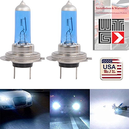 WTG H7 Super White Xenon Halogen Headlight Light Bulbs 55W (Contains 2 Bulbs)