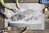 Mount Aconcagua in Argentina - Vintage Photograph (20x30 Premium 1000 Piece Jigsaw Puzzle, Made in USA!)
