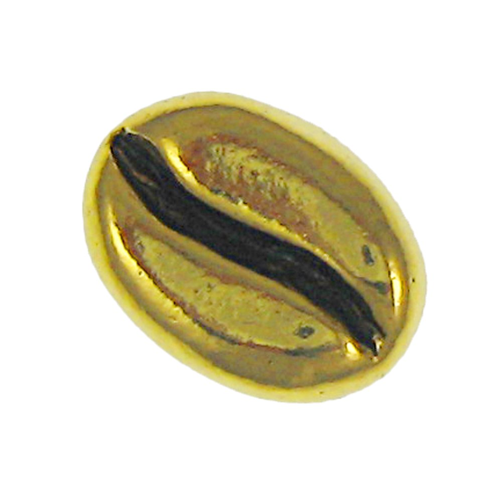 Coffee Bean Gold Lapel Pin - 100 Count