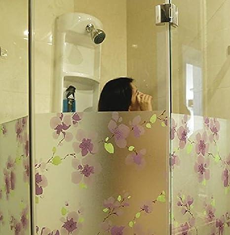 Lila Plum Escarchado de privacidad baño cristal pantalla Balcón ...