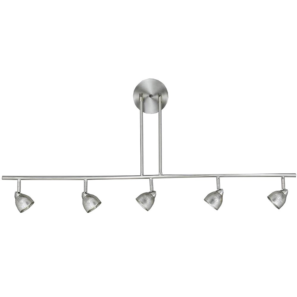 Cal Lighting SL-954-5-BS-CWH Track Lighting, Cone White & Brushed Steel B00D31X5QY