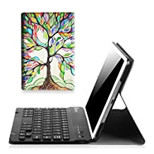 Fintie iPad mini 1/2/3 Keyboard Case - Blade X1 Ultra Slim Shell Lightweight Cover with Magnetically Detachable Wireless Bluetooth Keyboard for Apple iPad mini 3 / iPad mini 2 / iPad mini 1, Love Tree