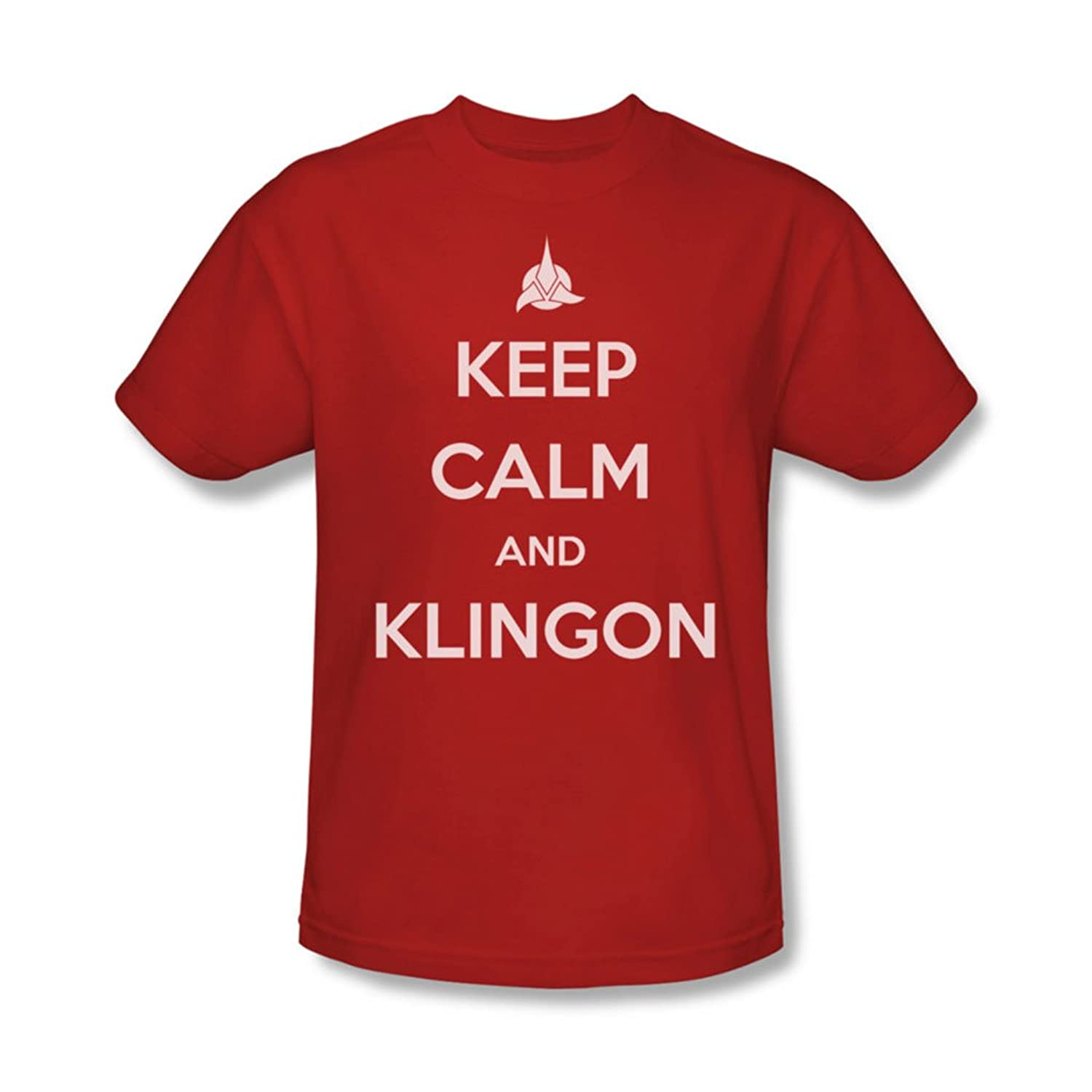 Star Trek - Mens Calm Klingon T-Shirt In Red