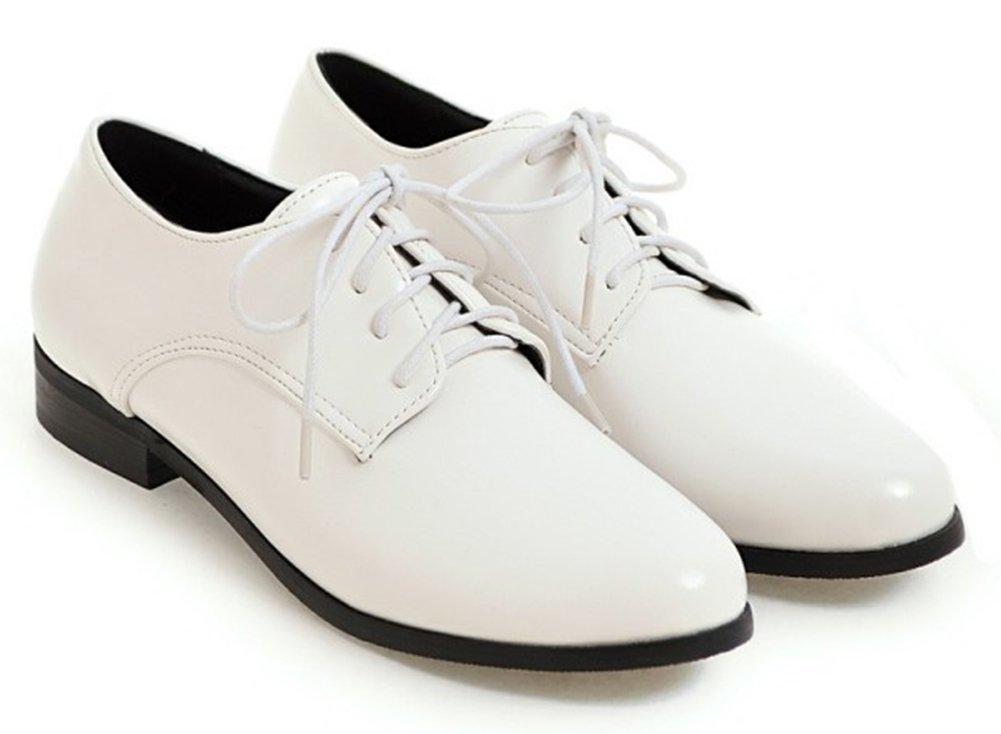 Aisun Frauen Komfort Schuhe Polierte Schnürung B071HSYTM3 Kleidung ...