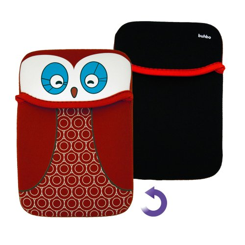 (Buhbo Red Owl Reversible Sleeve Case Cover Pouch for Huawei MediaPad X1 7.0)