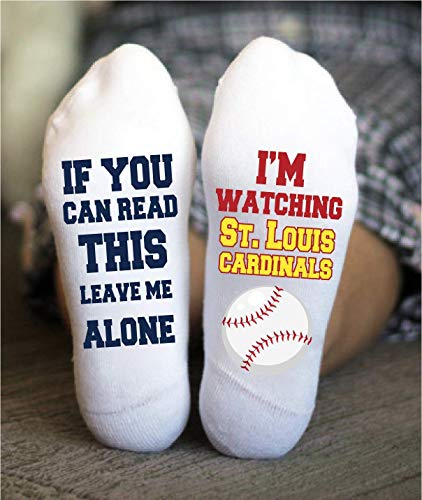 St. Louis Cardinals Socks Funny Birthday Gift Baseball Team