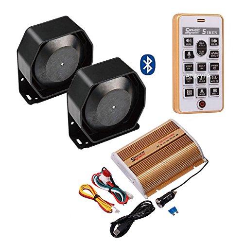 DENG 400W Sound Car Alarm Fire Loud Speaker PA Siren Horn System Kit Bluetooth -  Shenzhen Zhicheng Technology Co., Ltd