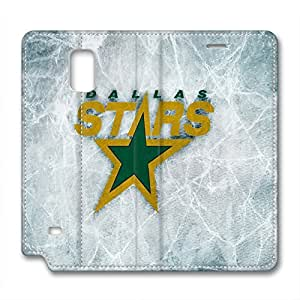 custom and diy for samsung galaxy note-4 leather case leather caseNHL Dallas Stars logo ice count background by nflgoshop