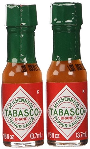 Tabasco Red Pepper Sauce Miniature Size 1/8 Oz. Ea. - Sold in Pack of 10 Bottles
