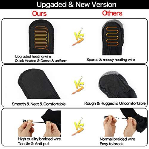 Heated Socks for Men Women - Electric Heating Socks, Battery Powered Socks Rechargeable for Winter Sports