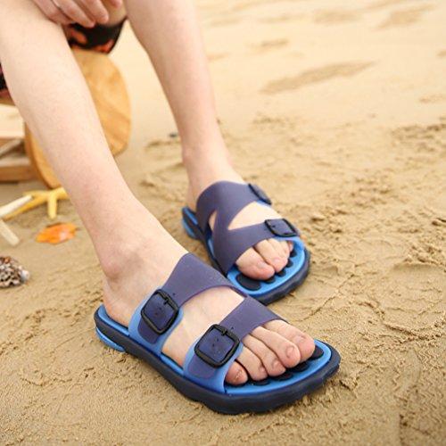 Hishoes - Zapatillas de estar por casa de pvc para hombre Azul