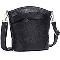 Leather Crossbody Bags for Women, Pocketbooks Purses and Handbags Ladies' Small Multi Pocket Light weight Shoulder bag
