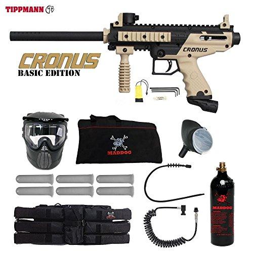MAddog Tippmann Cronus Basic Tactical Corporal Paintball Gun Package – Black/Tan For Sale